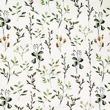 Textil - bavlnený úplet herbár, šírka 150 cm - 13565085_
