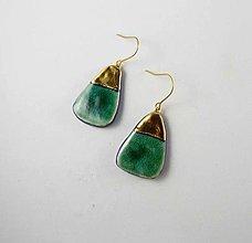 Náušnice - TANA hand made jewellery - keramika/zlato - 13564530_
