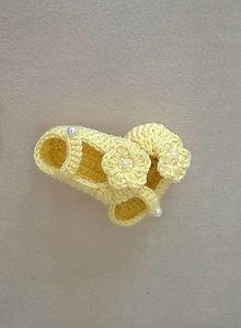 Detské topánky - Papučky žlté - 13566010_