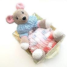 Hračky - Myška Emuška - pyžamkožrútik a mojkáčik malý - 13564328_