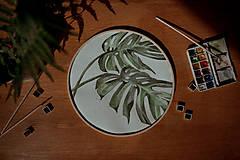 - kruhový obraz MONSTERA - 13567065_
