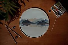 Obrazy - kruhový obraz HORY - 13567550_