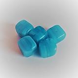 - sklenené korálky kocka 8mm - 13565193_