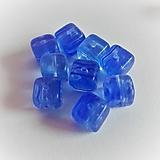 - sklenené korálky kocka 8mm (4) - 13565196_