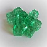 - sklenené korálky kocka 8mm (6) - 13565256_