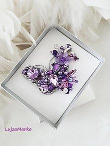 Odznaky/Brošne - Luxusný motýľ  - 13566254_