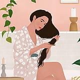 Grafika - Po koupeli - umělecký tisk - 13568036_