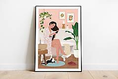 Grafika - Po koupeli - umělecký tisk - 13568037_