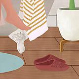 Grafika - Po koupeli - umělecký tisk - 13568038_