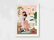 Grafika - Po koupeli - umělecký tisk - 13568040_