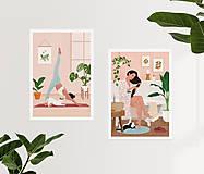 Grafika - Po koupeli - umělecký tisk - 13568042_