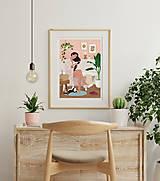 Grafika - Po koupeli - umělecký tisk - 13568043_