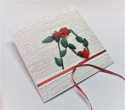 Papiernictvo - Pohľadnica ... 3 ruže k 70-tke - 13570126_