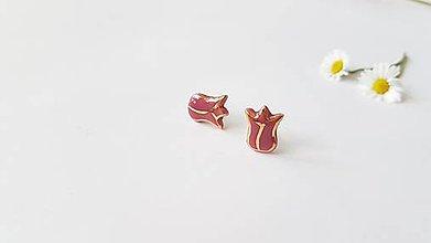 Náušnice - Tulipániky - 13568191_