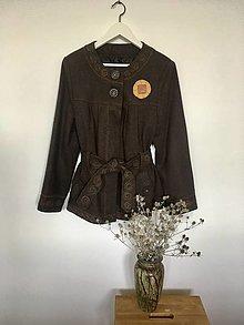 Kabáty - Kabátik hnedý  veľ.40 - 13569375_