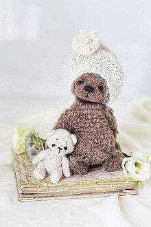 Hračky - Medvedík s medvedíkom - 13569197_