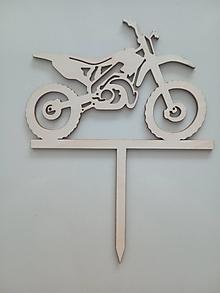 Dekorácie - Drevený zapich do torty - motorka - 13569890_