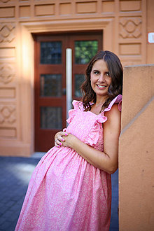 Tehotenské/Na dojčenie - Šaty FORGET-ME-NOT Blooming - 13568141_