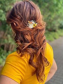 """Ozdoby do vlasov - Kvetinový hrebienok """"nežný dotyk slnka"""" - 13570053_"""