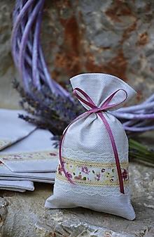 Úžitkový textil - Vrecúško / vrecko na levanduľu - 13568909_