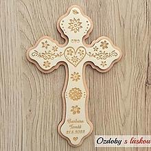 Iné doplnky - Svadobný kríž Folk Elegant 2 - 13570089_
