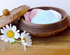 Úžitkový textil - Kozmetické recy tampóniky jednofarebné - 13567668_