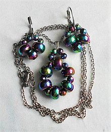 Sady šperkov - Dúhový hematit - 13570751_