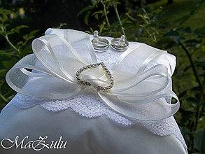 Prstene - Svadobný vankúšik - 13571868_