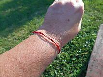 Náramky - red- proti urieknutiu-náramok-šnúrka - 13570261_