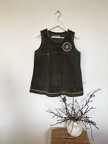 Iné oblečenie - Manchestrové recy vesto-šaty veľ.M - 13572201_
