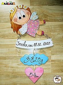 Dekorácie - Anjelik - dievča - 13572418_