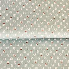 Textil - lístky na mentolovej, 100 % bavlna Francúzsko, šírka 150 cm - 13571619_