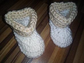 Topánočky - Babypapučky háčkované - 13572690_