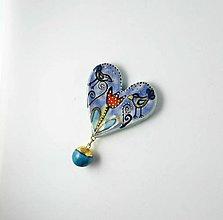 Odznaky/Brošne - Tana šperky - keramika/zlato - 13570392_