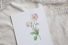 Kresby - Akvarelový art print   Jarné kvietky - 13571814_