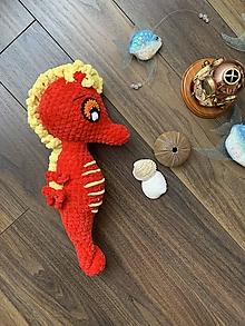 Hračky - morský koník MAXÍK - v červenom 💖 - 13572122_