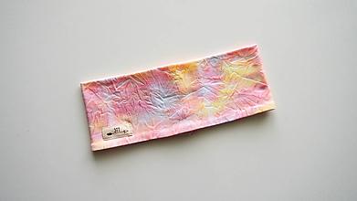 Ozdoby do vlasov - Čelenka- pestrá batikovaná - 13571802_