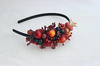 Ozdoby do vlasov - Čelenka jabĺčkovo2 - 13570411_