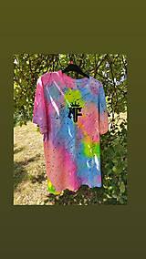 Tričká - Batikované tričko - 13570294_