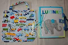 Iné tašky - taška na qiuet book - autá alebo pandy - 13571702_