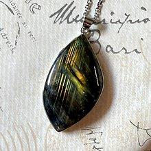 Náhrdelníky - Labradorite Steel Necklace / Oceľový náhrdelník s labradoritom - 13573192_