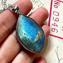 Náhrdelníky - Labradorite Steel Necklace / Oceľový náhrdelník s labradoritom - 13573244_