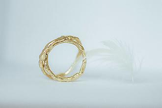Prstene - Zlaté vetvičkové obrúčky - Vitis - 13573809_