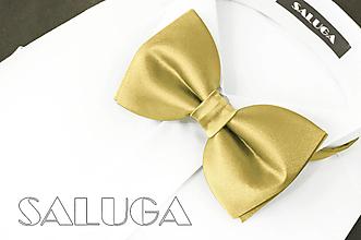 Doplnky - Pánsky zlatý motýlik - 13574134_