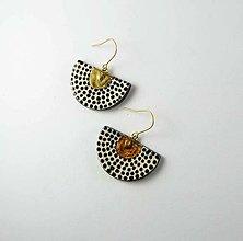 Náušnice - TANA hand made jewellery - keramika/zlato - 13573045_