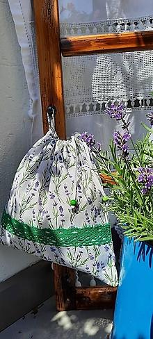 Úžitkový textil - Bavlnené vrecko do domácnosti_ ekoobal levanduľa - 13574373_