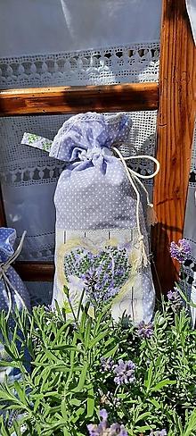 Úžitkový textil - Bavlnené vrecko do domácnosti_  levanduľa - 13574396_