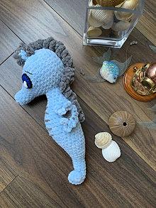 Hračky - morský koník MAXÍK - v modrom 💙 - 13574661_