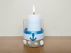 Svietidlá a sviečky - Námornícky svietnik ⚓️ - 13574522_