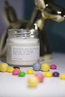 Svietidlá a sviečky - Sójova sviečka - Žuvačka Antialergent - 13574203_